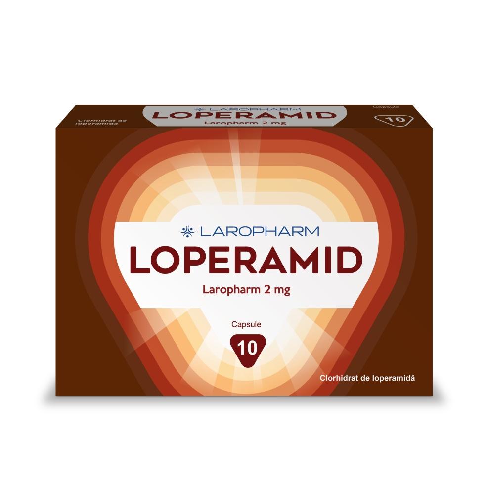 Loperamid, 2 mg, 10 capsule, Laropharm