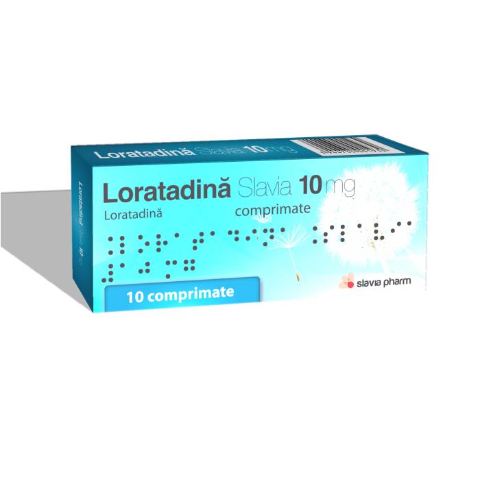 Loratadină 10 mg, 10 comprimate, Slavia Pharm