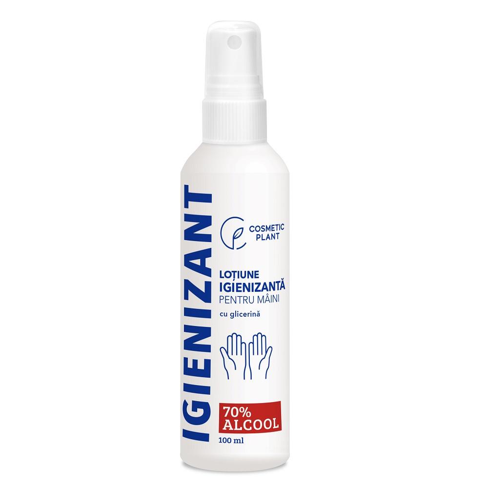 Loțiune igienizantă pentru mâini 70% alcool etilic & glicerină, 100 ml, Cosmetic Plant