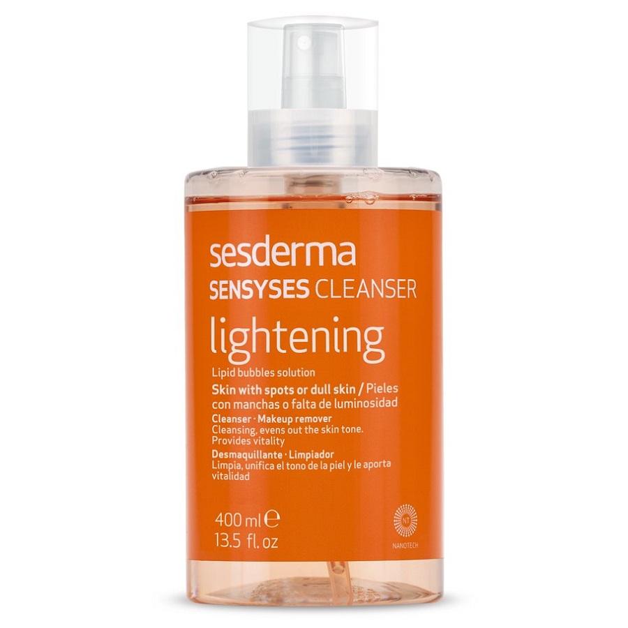 Lotiune pentru curatarea tenului patat sau lipsit de luminozitate Sensyses, 400 ml, Sesderma