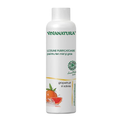 Lotiune purificatoare pentru ten mixt si gras, 150 ml, Vivanatura