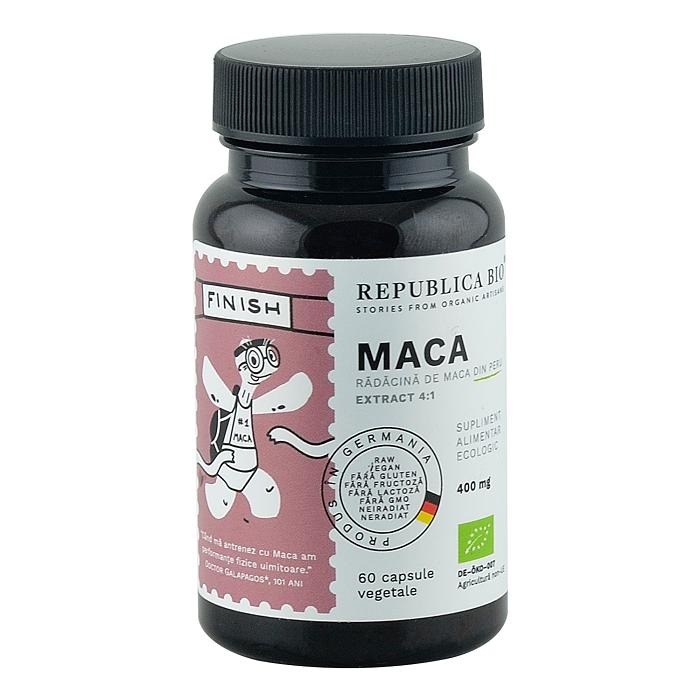 Maca 400 mg, 60 capsule, Republica Bio
