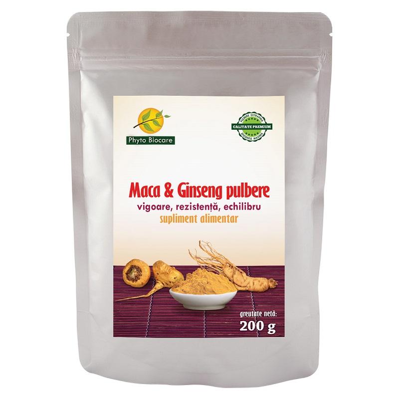 Pulbere de Macă și Ginseng, 200 g, Phyto Biocare