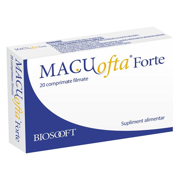 Macuofta forte, 20 comprimate, Biosooft