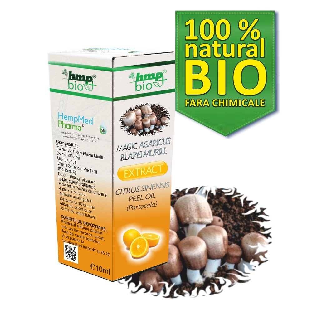 Magic Agaricus Blazei Murill Extract Citrus (Portocala), ulei, 10 ml, HempMed Pharma