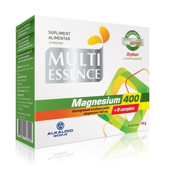 Magnesium 400 + B complex, 20 plicuri, Alkaloid