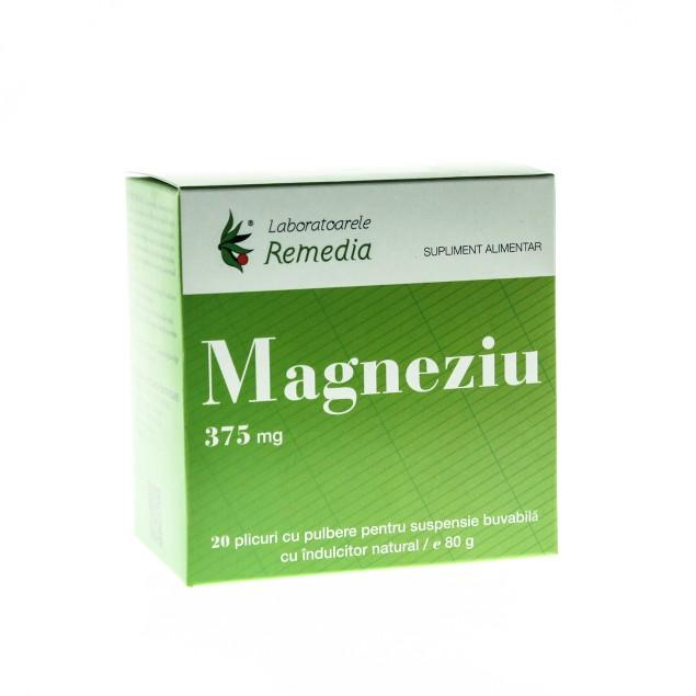 Magneziu 375mg, 20 plicuri, Remedia