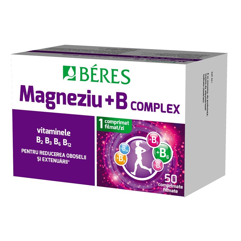 Magneziu + B complex, 50 comprimate filmate, Beres Pharmaceuticals Co