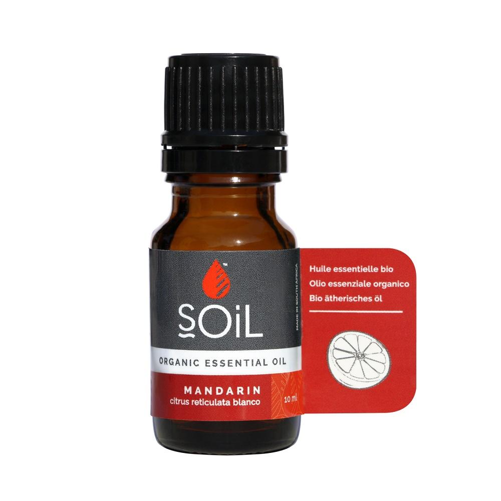 Ulei Esențial Mandarină Pur 100% Organic , 10 ml, SOiL