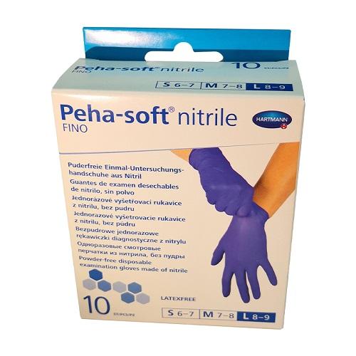 Manusi din nitril matimea L (8-9) Peha-Soft FINO (9422222), 10 bucati, Hartmann