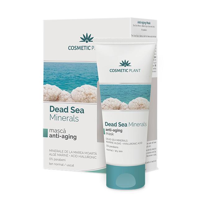 Masca anti-aging cu minerale, alge marine, acid hialuronic Dead Sea Minerals, 50 ml, Cosmetic Plant