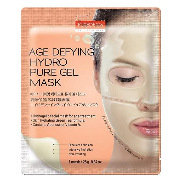 Masca anti-imbatranire cu extract de ceai verde, adenozine si vitamina A Hydro Pure Gel, 25 g, Purederm