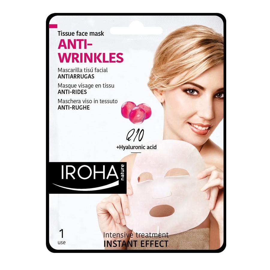 Masca anti-rid pentru fata pe suport textil, 23 ml, Iroha