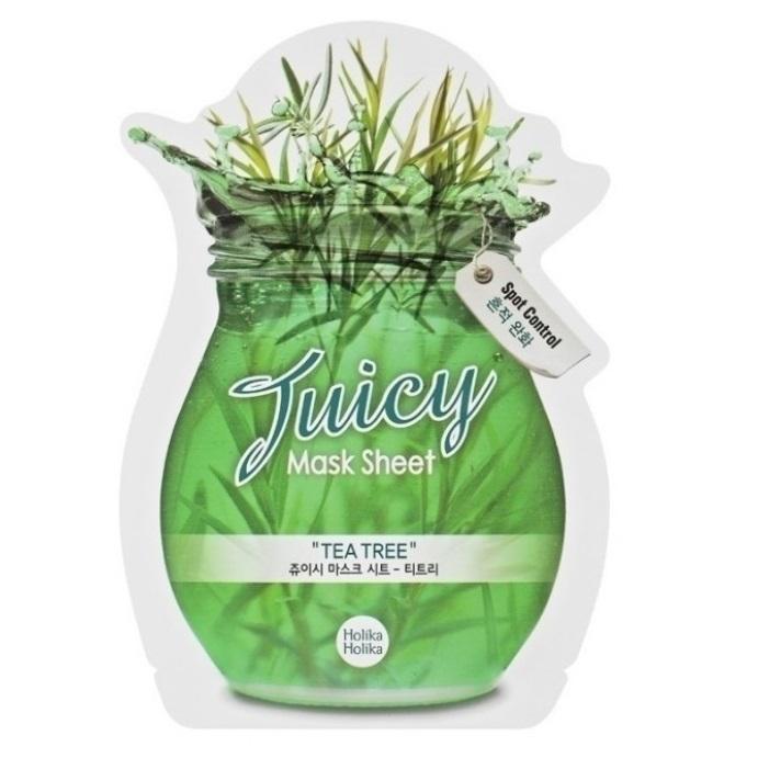 Masca cu arbore de ceai Juicy, 20 ml, Holika Holika