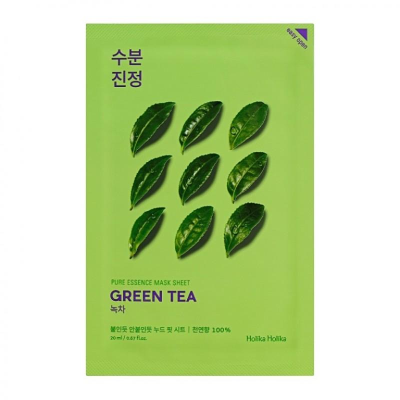 Masca cu ceai verde Pure Essence, 20 ml, Holika Holika