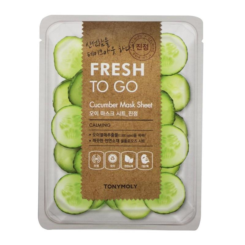 Mască calmantă cu Castravete Fresh to Go, 20 g, TonyMoly