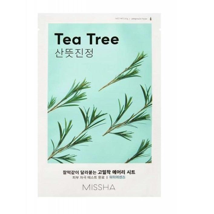 Masca cu efect calmant si extract de arbore de ceai Airy Fit, 19 g, Missha