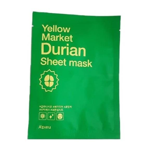 Masca cu efect de albire si extract de Durian, Yellow Market, 21g, Apieu