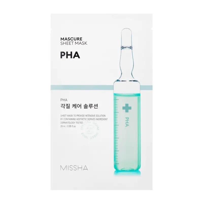 Masca cu efect de peeling si PHA, 28 ml, Missha