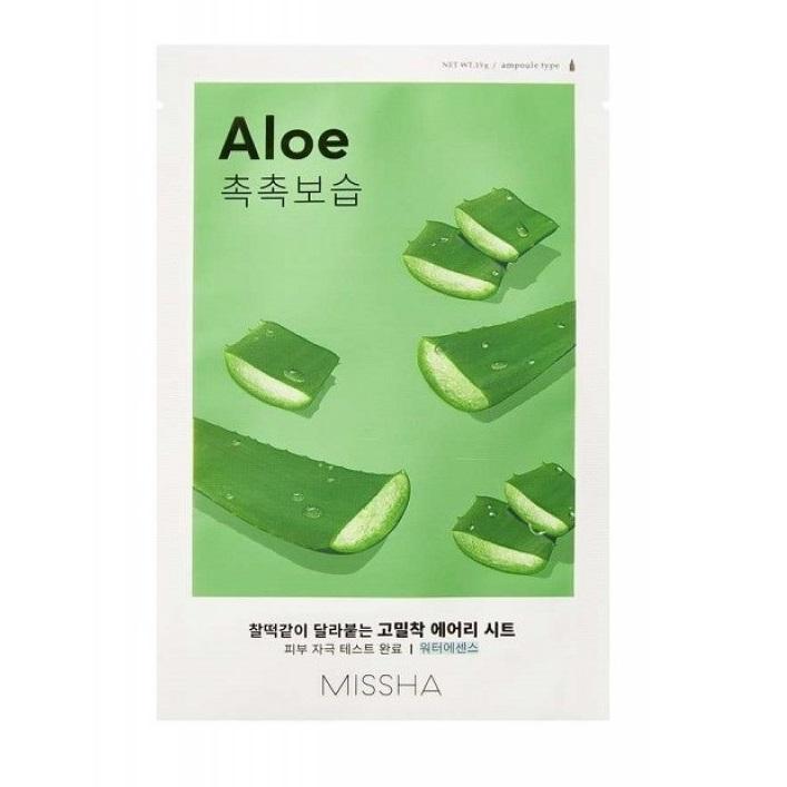 Masca cu extract de Aloe Vera pentru vitalitate Airy Fit, 19 g, Missha