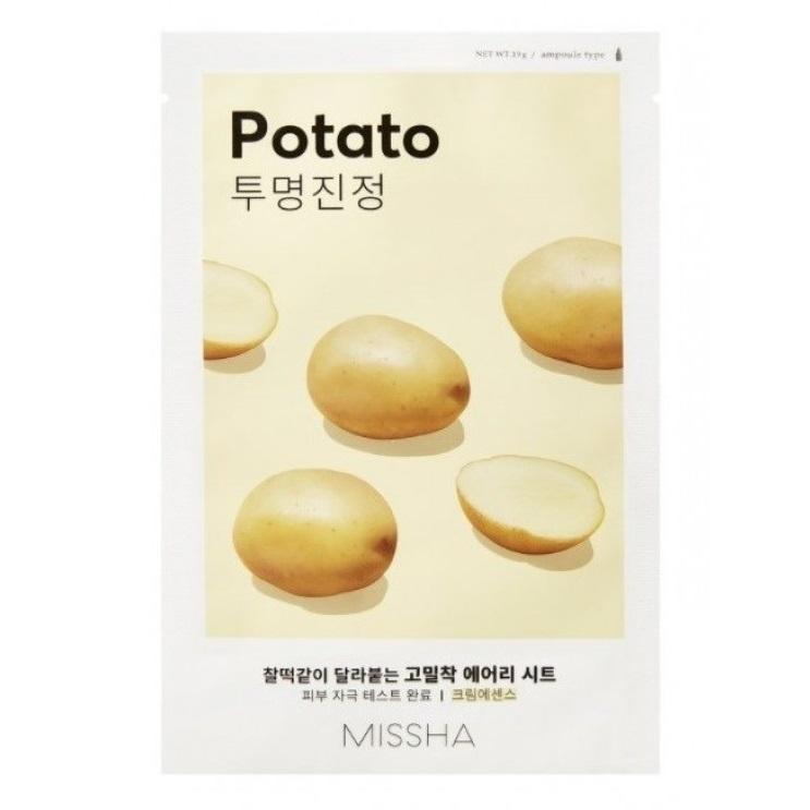 Masca cu extract de cartof pentru luminozitate Airy Fit, 19 g, Missha