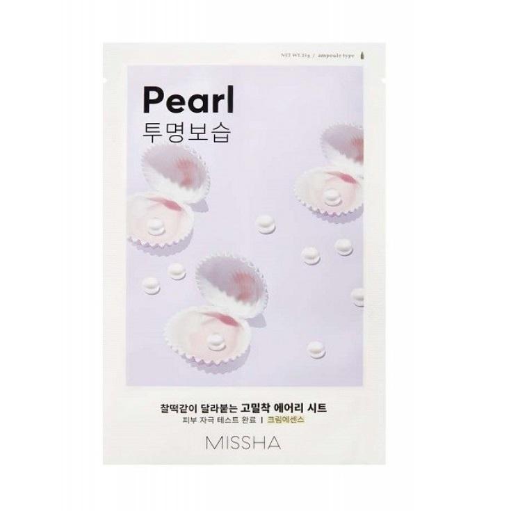 Masca cu extract de perla pentru ten obosit Airy Fit, 19 g, Missha