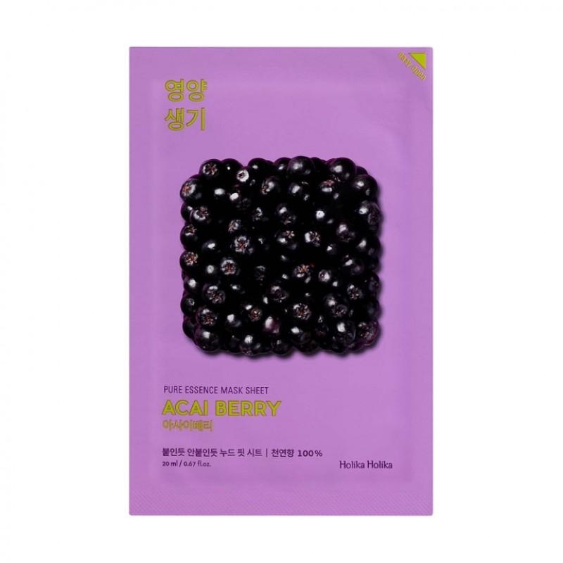 Masca cu fructe de acai Pure Essence, 20 ml, Holika Holika