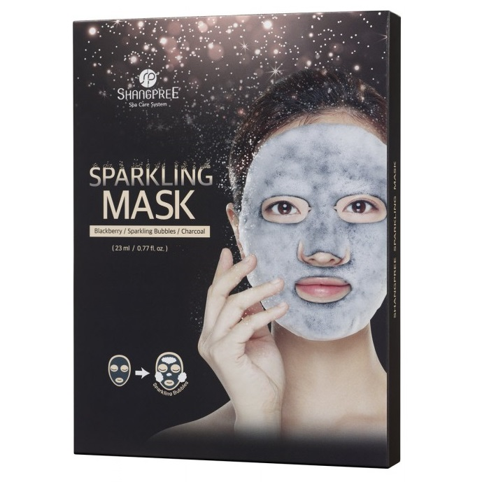 Mască cu micro-bule Sparkling Mask, 23 ml, Shangpree