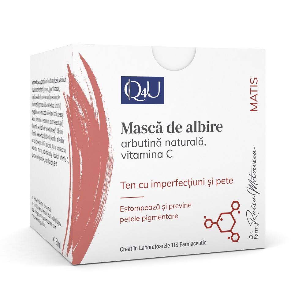 Mască de albire cu merisor și Vitamina C Matis Q4U, 50 ml, Tis Farmaceutic