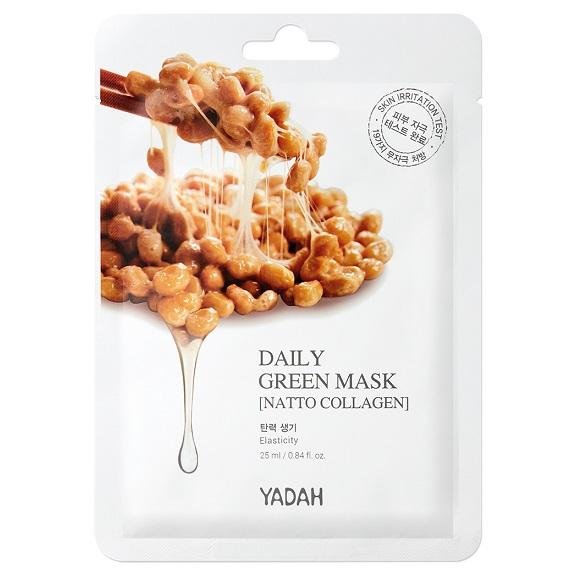 Masca de fata natto collagen Daily Green, 25 ml, Yadah