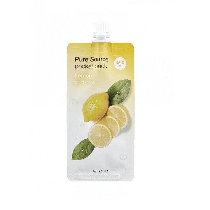 Masca de noapte cu lamaie pentru vitalitate Pocket Pack, 10 ml, Missha
