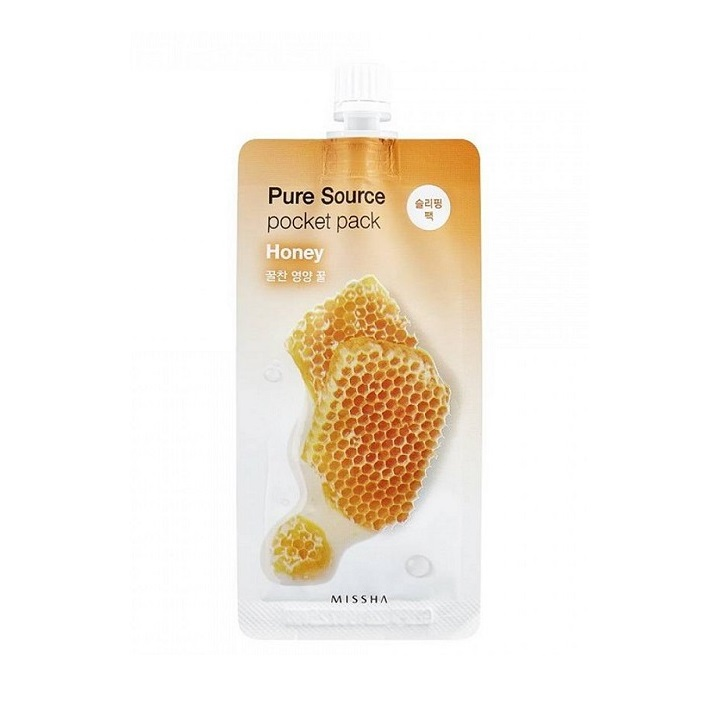 Masca de noapte cu miere pentru elasticitate Pocket Pack, 10 ml, Missha
