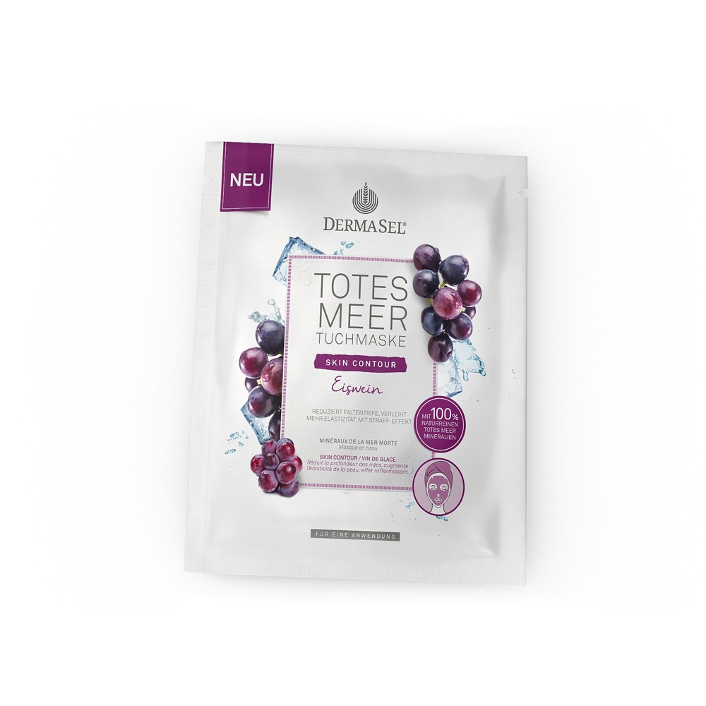 Masca din vascoza cu vin de gheata si 100% minerale de la Marea Moarta, 12 ml, DermaSel