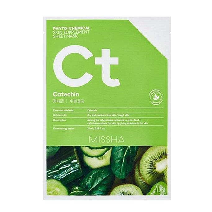 Masca faciala cu efect hidratant Catechina Phytochemical Skin Supplement, 25 ml, Missha