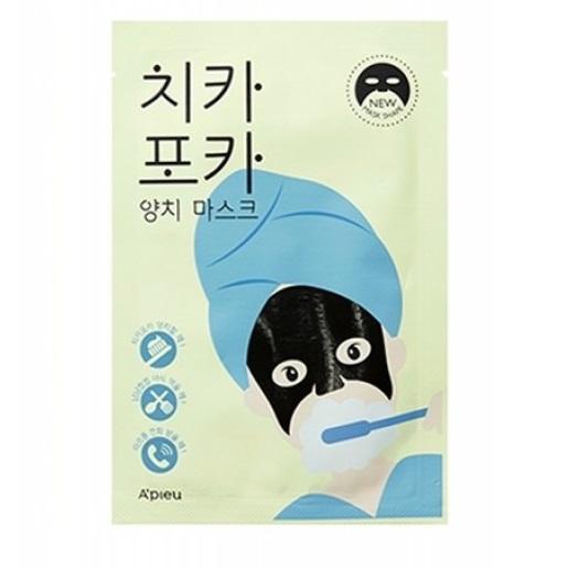 Masca faciala cu extract de carbune de bambus CHI KA PO KA, 17 g, Apieu