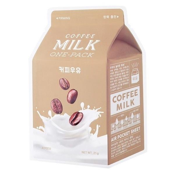 Masca faciala pentru fermitate Coffee Milk, 21 g, Apieu