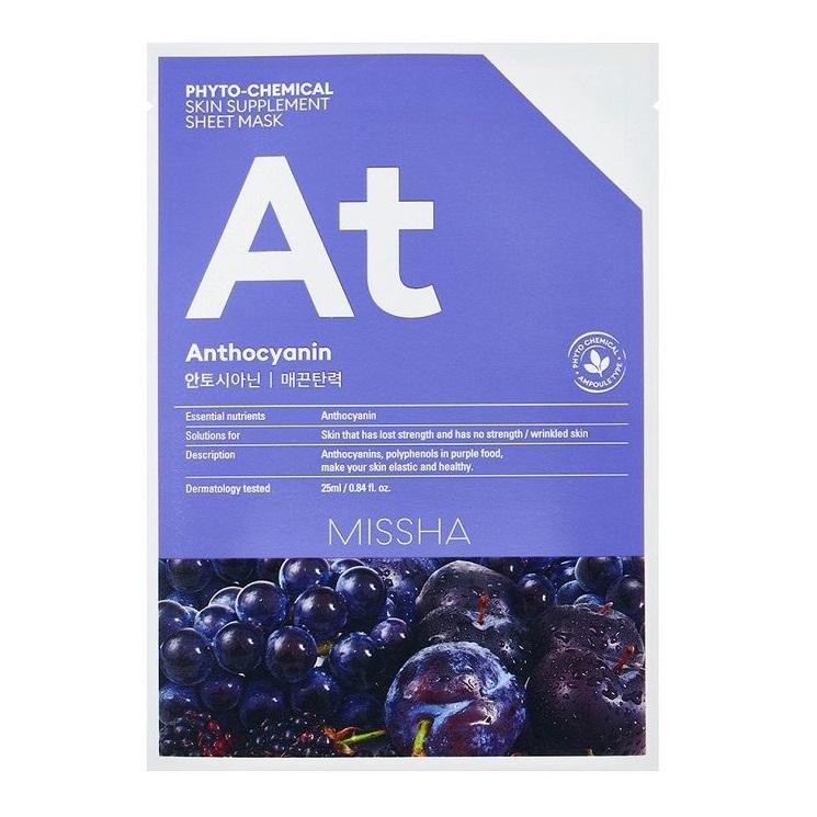 Masca faciala pentru fermitate Phytochemical Antociani Skin Supplement, 25 ml, Missha