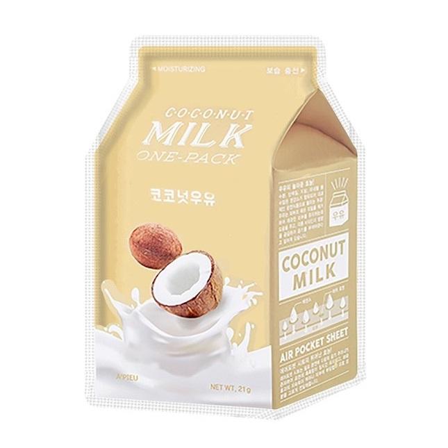 Masca faciala pentru hidratare Coconut Milk, 21 g, Apieu