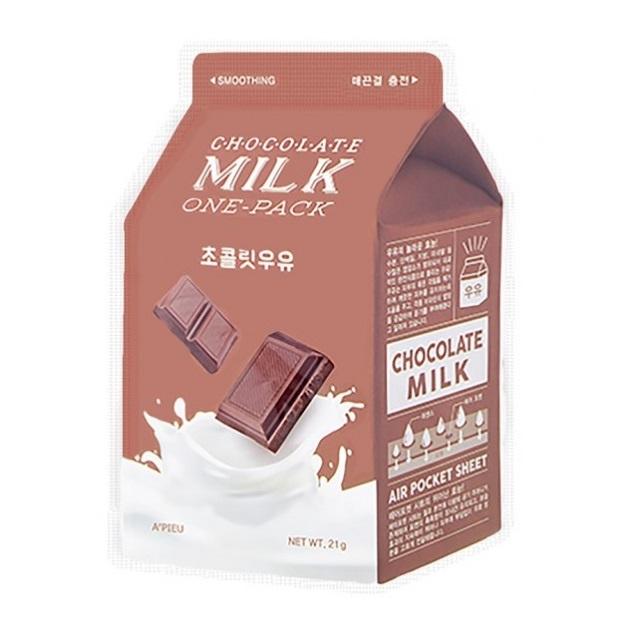 Masca faciala pentru netezirea tenului Chocolate Milk, 21 g, Apieu