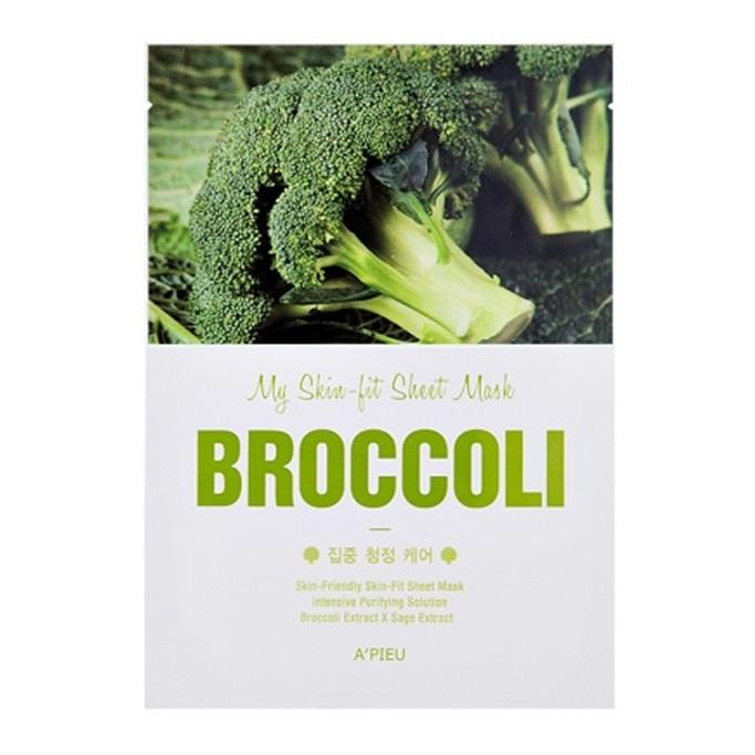 Masca faciala purificatoare cu extract de broccoli Skin-fit, 25 g, Apieu