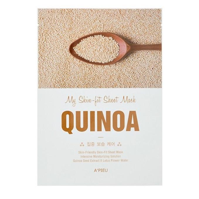 Masca facila cu extract de quinoa pentru hidratare Skin-fit, 25 g, Apieu