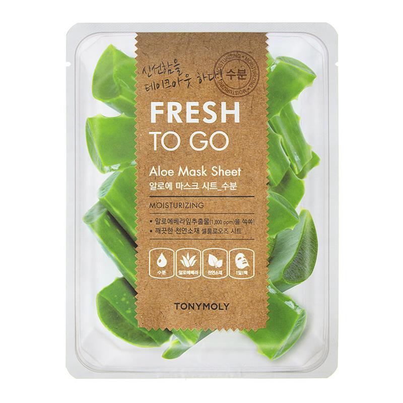 Mască hidratantă cu Aloe Vera Fresh to Go, 20 g, TonyMoly
