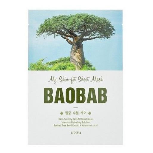 Masca hidratanta cu extract de Baobab Skin-fit, 21 g, Apieu