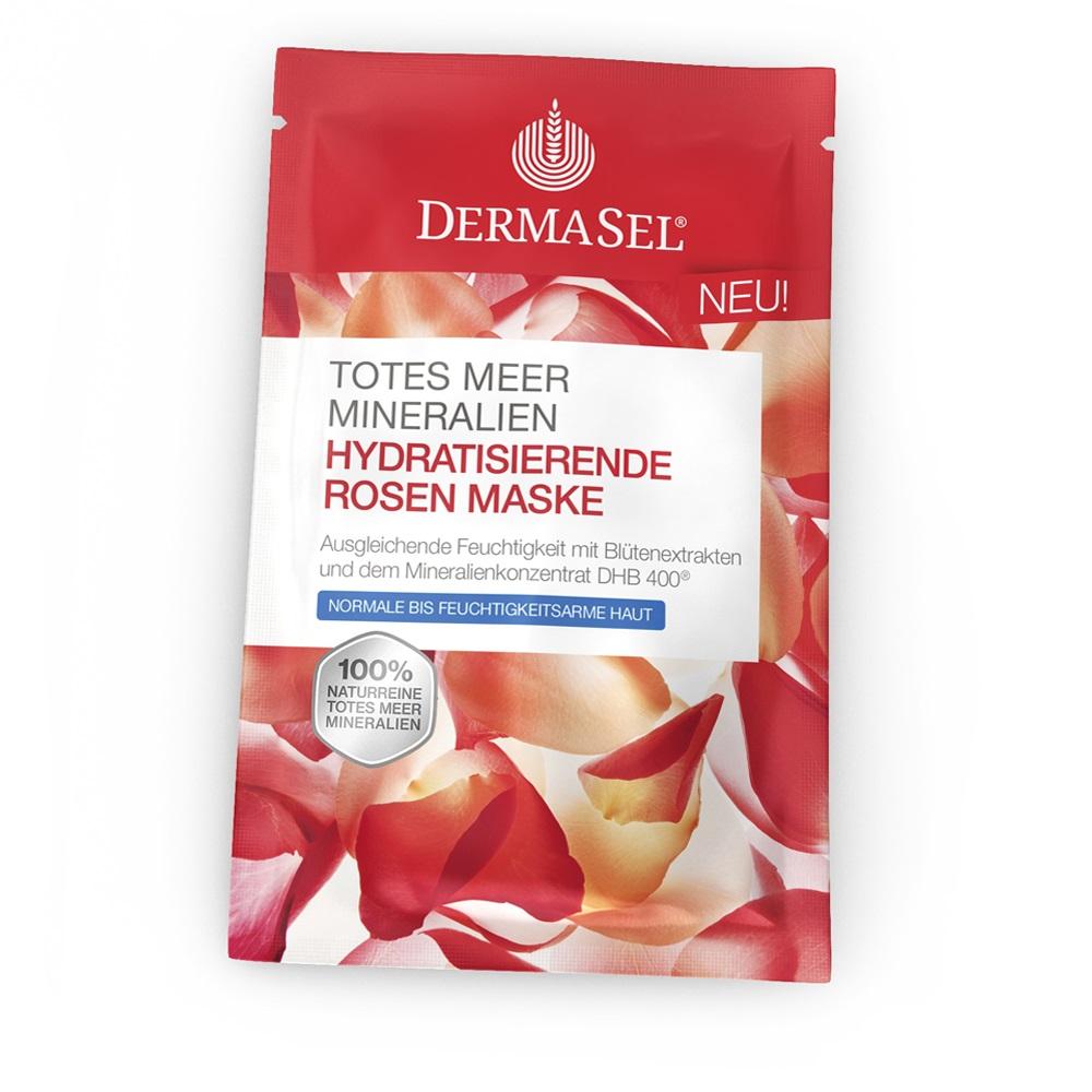 Masca hidratanta cu petale de trandafir, 12 ml, DermaSel