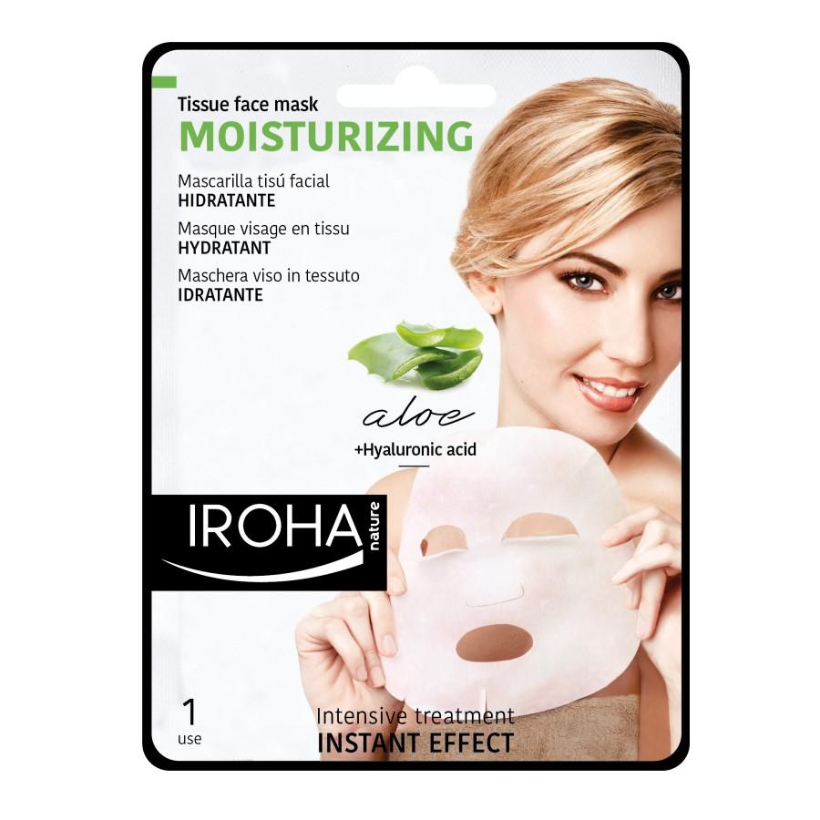 Masca hidratanta pentru fata pe suport textil, 23 ml, Iroha
