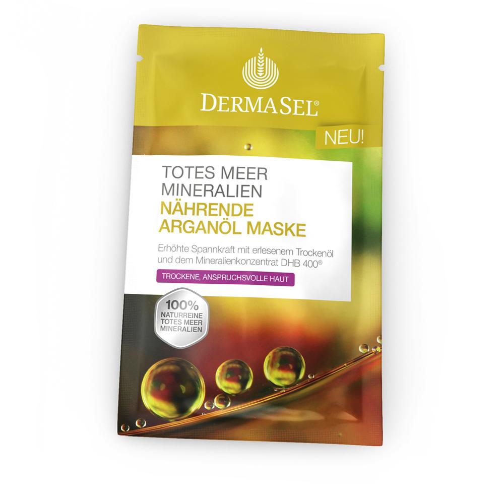Masca hranitoare cu ulei de argan, 12 ml, DermaSel