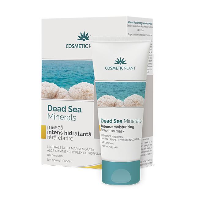 Masca intens hidratanta fara clatire cu minerale si alge marine Dead Sea Minerals, 50 ml, Cosmetic Plant