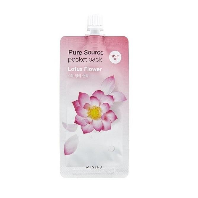 Masca peel-off cu lotus pentru hidratare Pocket Pack, 10 ml, Missha