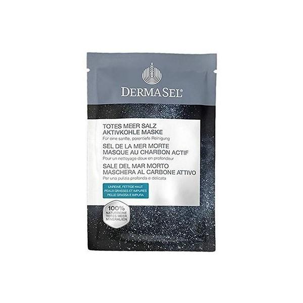 Masca pentru curatare profunda cu Carbune medicinal activ, 12 ml, DermaSel