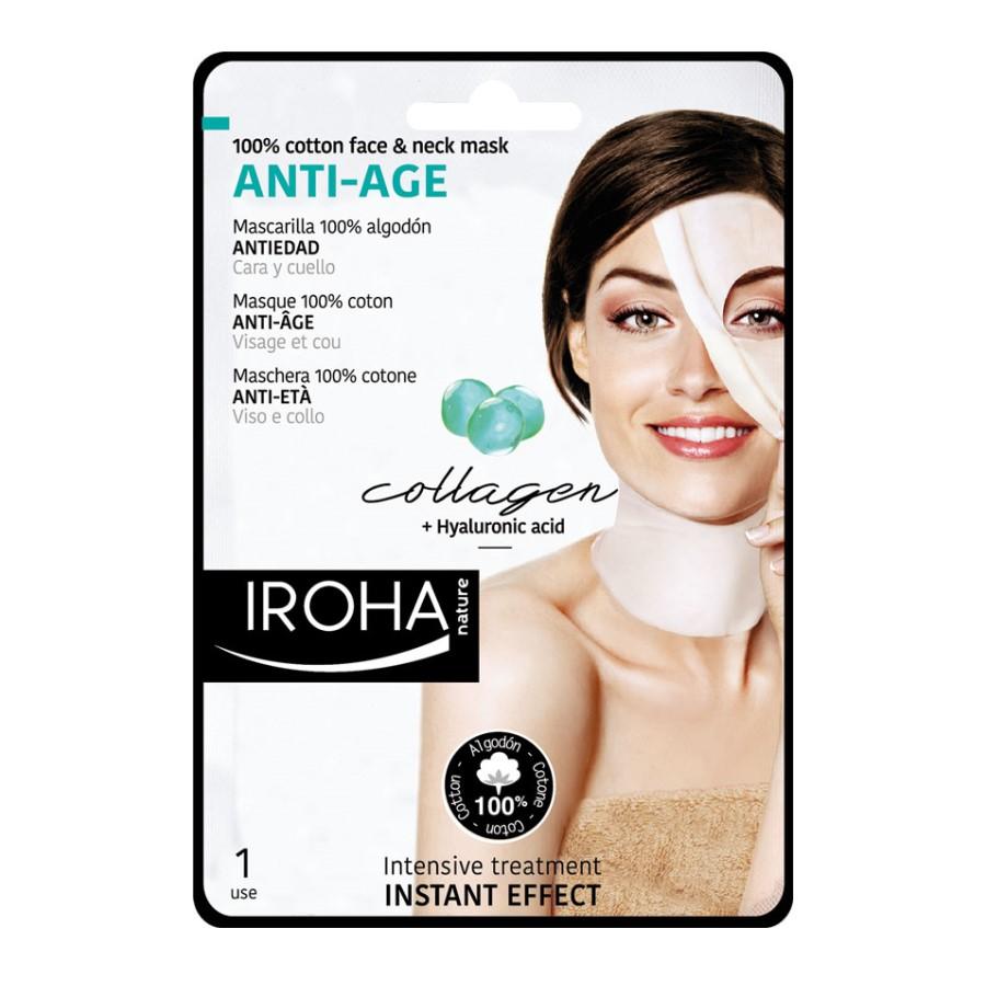 Masca pentru fata pe suport textil cu efect anti-age, 30 ml, Iroha